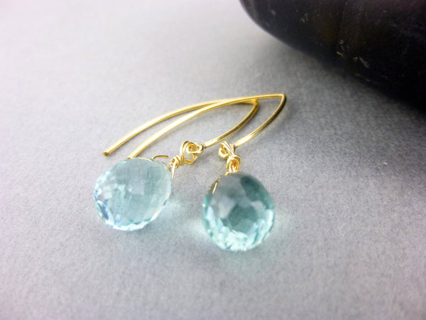 Quartz Throat Chakra Earrings, Third Eye Chakra - Earth Energy Gemstones