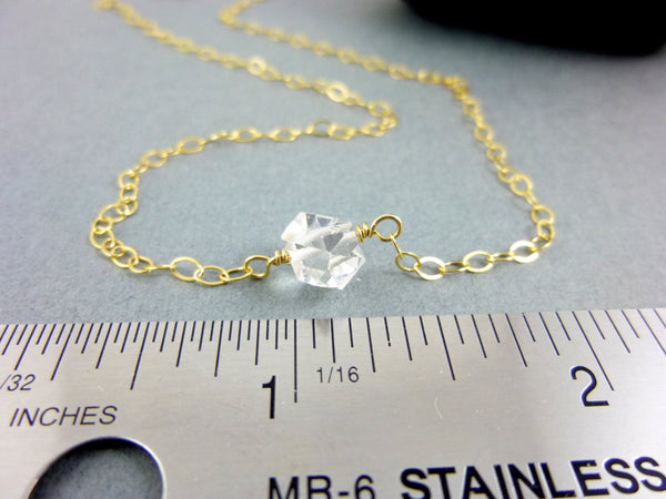 Herkimer Diamond Necklace, Clears all Chakras - Earth Energy Gemstones