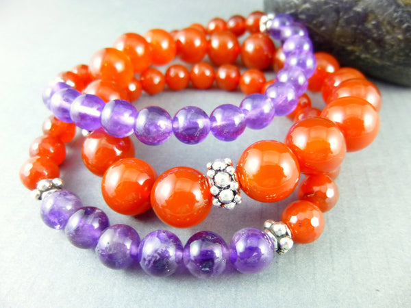Stacking Chakra Bracelet Set - Earth Energy Gemstones