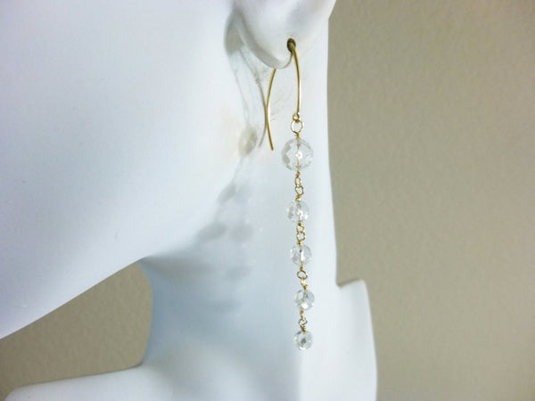 Crystal Quartz Shoulder Duster Earrings - Earth Energy Gemstones