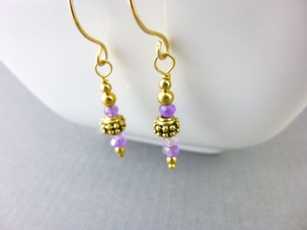 Amethyst Healing Crystals Earrings - Earth Energy Gemstones