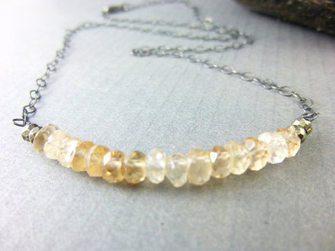 Imperial Topaz Necklace, Crown Chakra - Earth Energy Gemstones