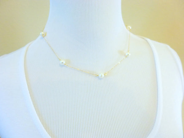 Baroque Pearl Bridal Necklace, Third Eye Chakra, Silver or Gold Fill - Earth Energy Gemstones