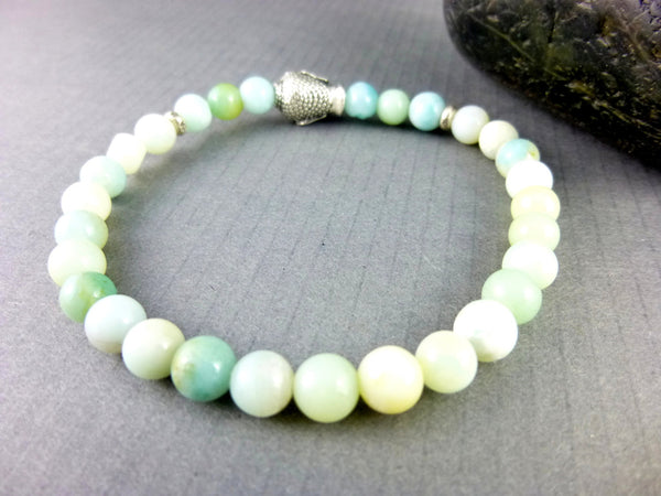 Amazonite Chakra Bracelet, Heart and Throat Chakras - Earth Energy Gemstones