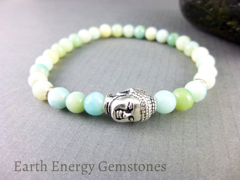 Amazonite Heart & Throat Chakra Bracelet