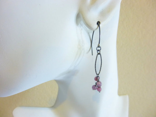 Pink Sapphire Earrings, Heart Chakra, September Birthstone