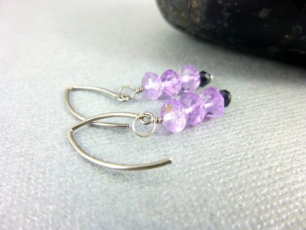 Amethyst Chakra Earrings, February Birthstone - Earth Energy Gemstones