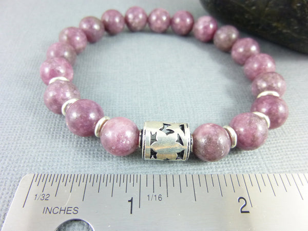 Crown Chakra Bracelet, Lepidolite - Earth Energy Gemstones