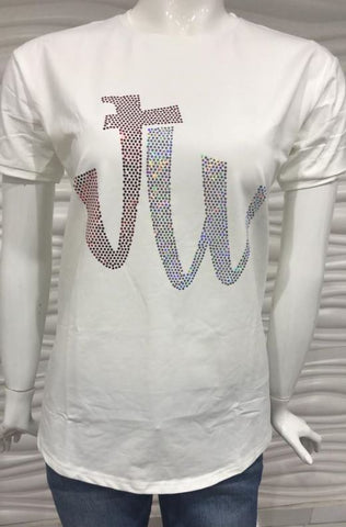 JW BERRY SILVER SPARKLE TEES