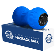 Professional Vibrating Peanut Massage Ball - Deep Tissue Trigger Point Therapy, Myofascial Release - Handheld, Cordless - 4 Intensity Levels - Dual Lacrosse Ball Vibration Massager - Free Shipping in the US