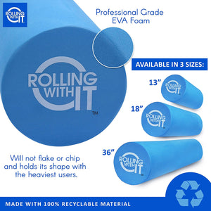 foam roller, EVA foam roller, foam roller size, Rolling With It