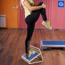 Load image into Gallery viewer, Professional Adjustable Wooden Incline Slant Board - Calf Stretcher - Increase Flexibility, Mobility, Pain Relief - Safe Anti-Slip Design - Achilles, Plantar Fascia, Tight Calves - Travel Bag Included - Free Shipping in the US