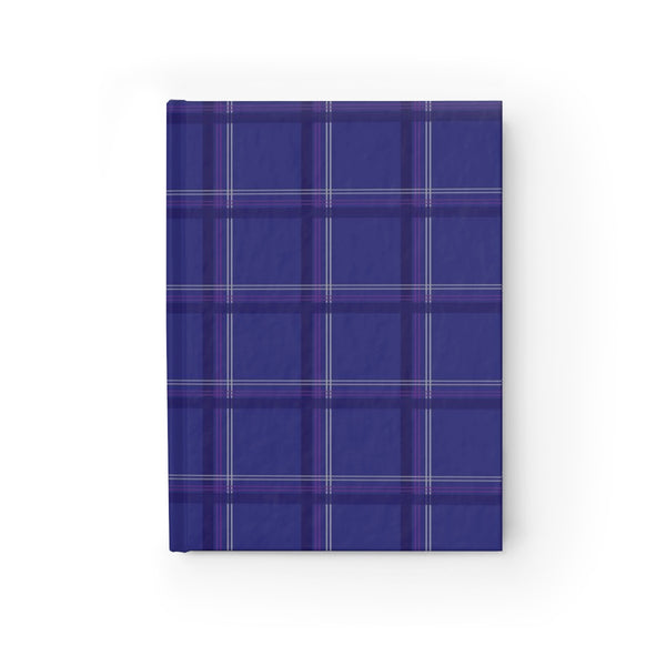 hardcover journal - wednesday plaid in blue