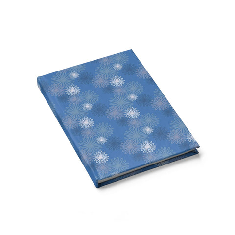 hardcover sketchbook - blue chrysanthemum