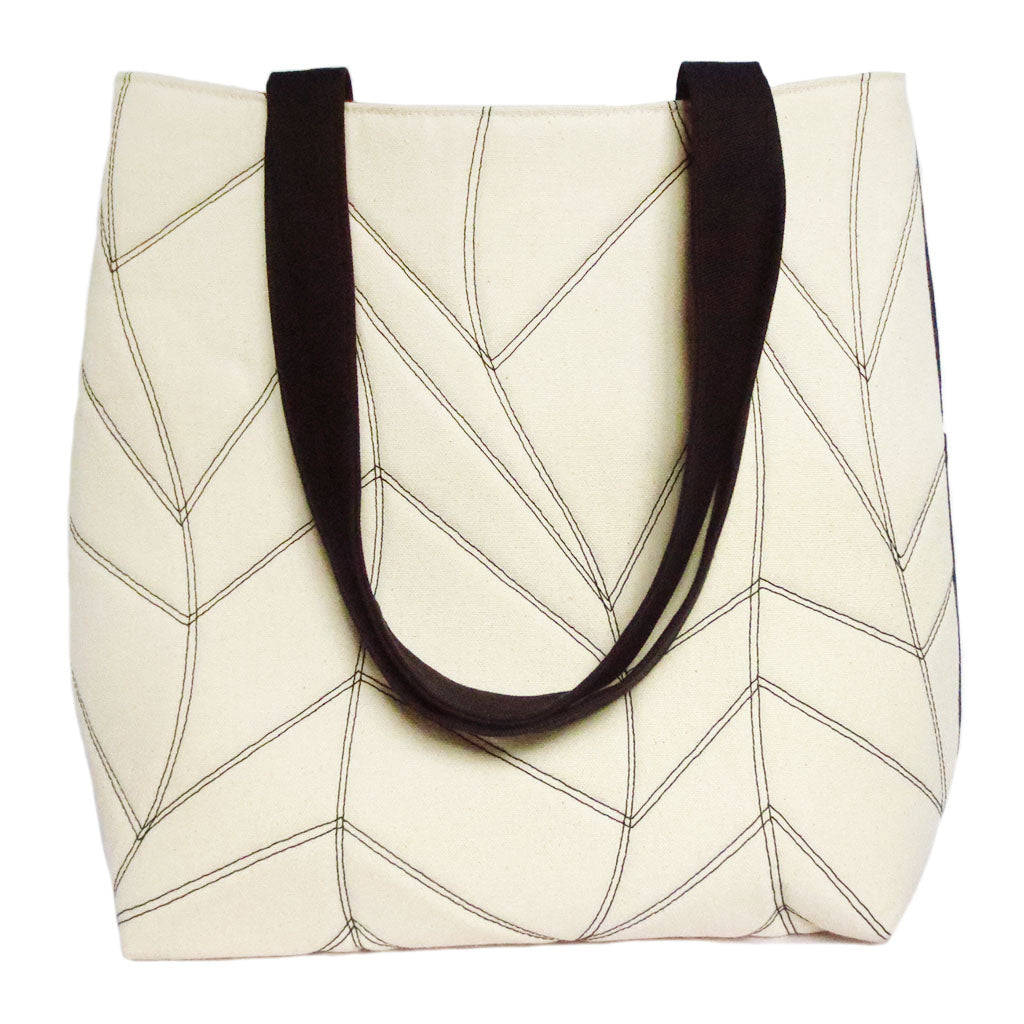 the cassandra 517 tote from Holland Cox featuring our signature chevron wave motif