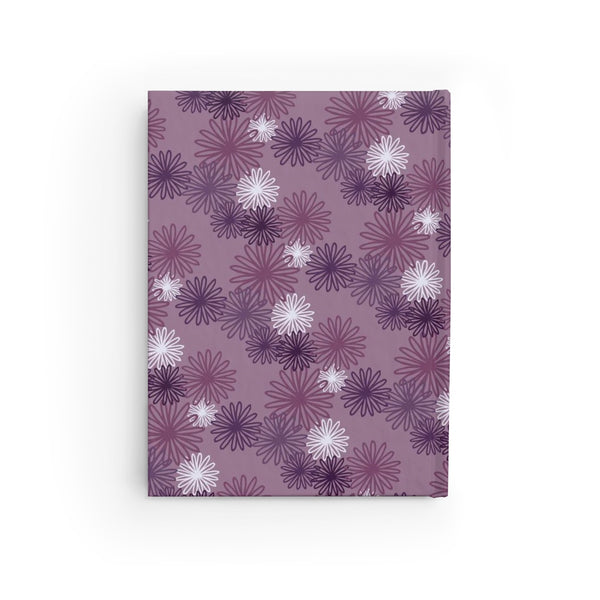 hardcover journal - purple chrysanthemum