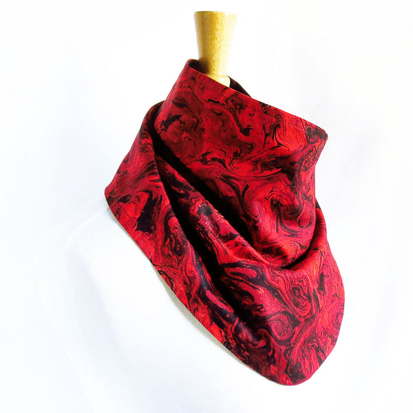 red marble button scarf
