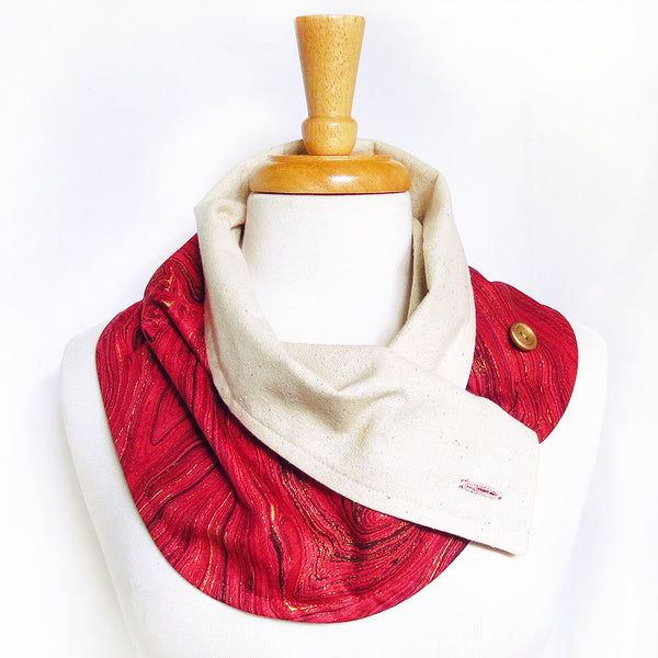 veronica button scarf