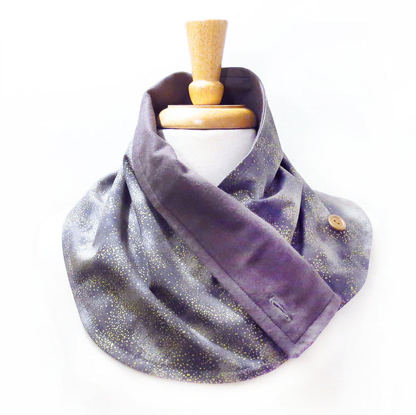 claudette button scarf