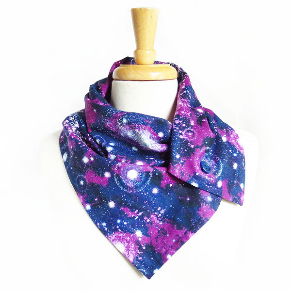 galaxy button scarf