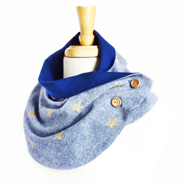 starlight button scarf