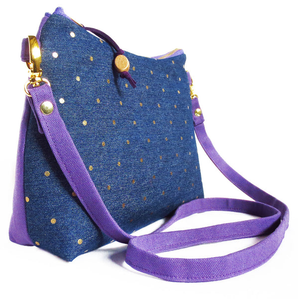 side view of the lola crossbody bag