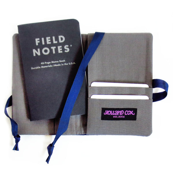 back pockets of the field notes cover can hold several cards and your ID