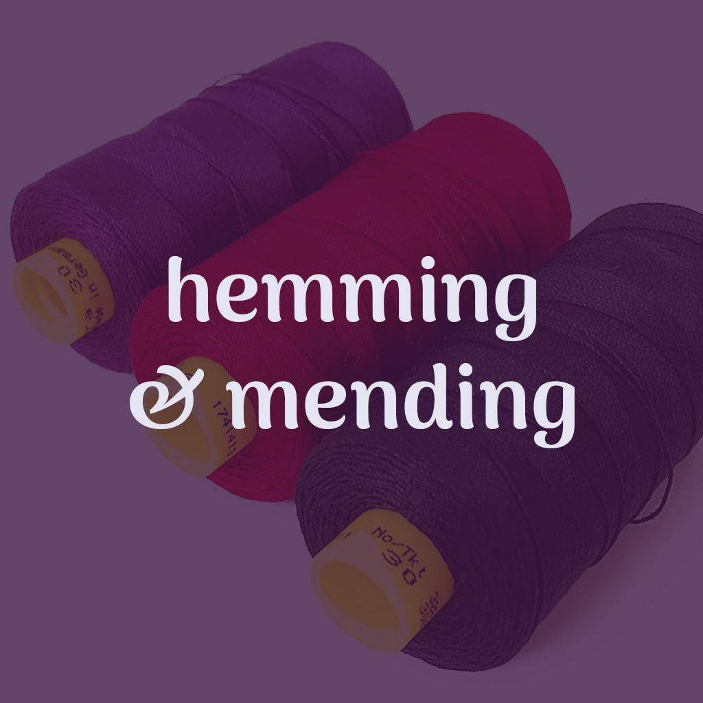 hemming & mending sewing lesson