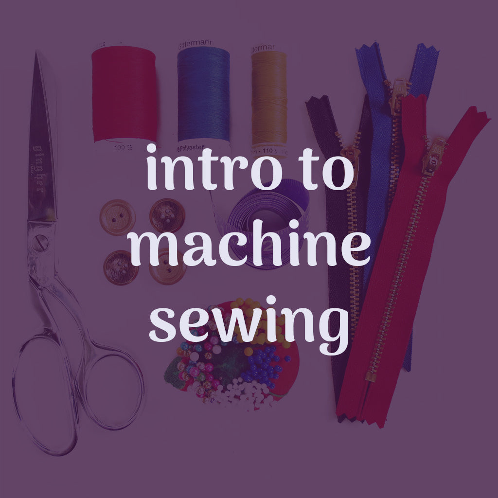 intro to machine sewing lesson
