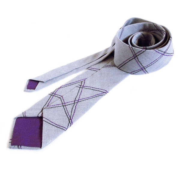 jefferson in purple necktie