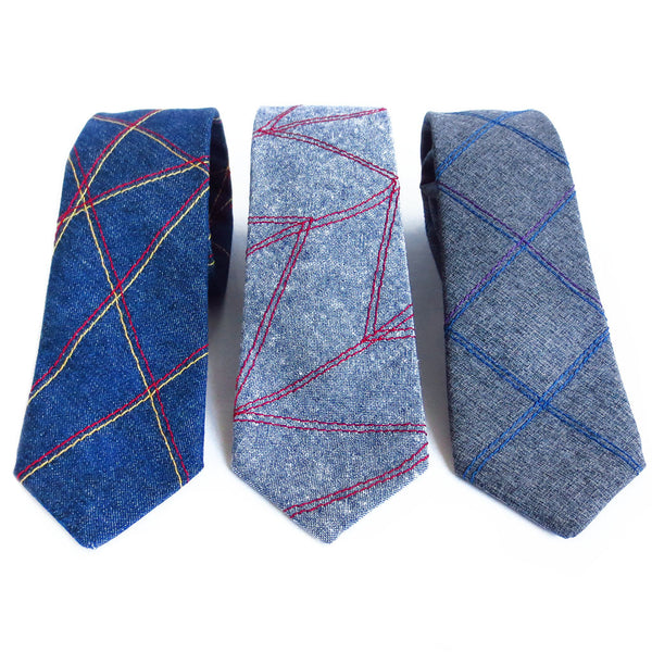 three handmade neckties from Holland Cox