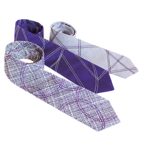 chevron wave in purple necktie
