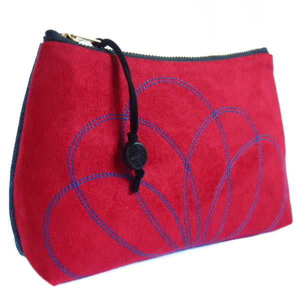 side view of the persephone zip pouch from Holland Cox
