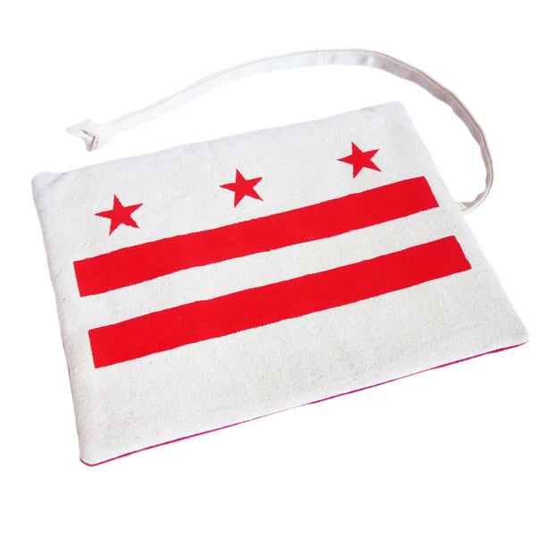 canvas watch roll with the stars & bars of the DC flag from Holland Cox