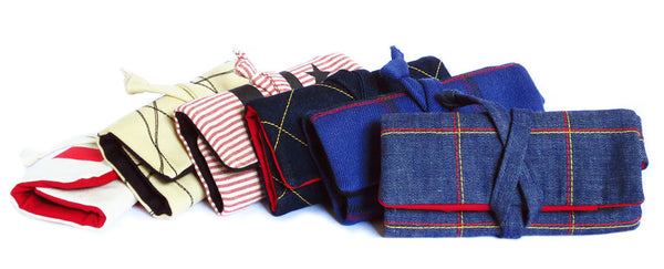 six new fabric watch rolls from Holland Cox