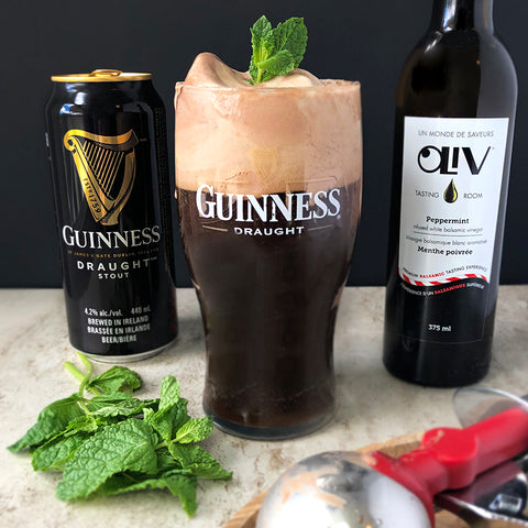 Guinness Chocolate Peppermint Float St. Patricks Day OLiV Tasting Room