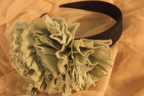 Pleated Floral Hair Band