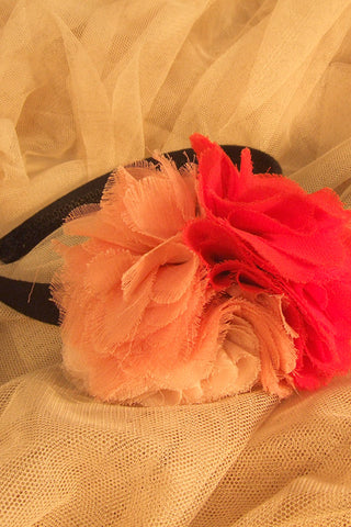 Color Mix Chiffon Corsage Hairband