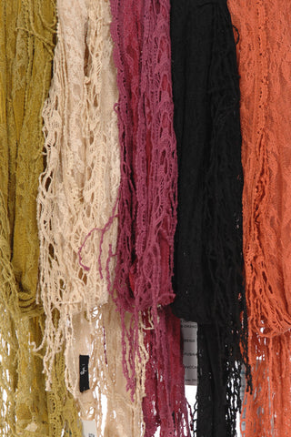 Antique Lace Scarf with Fringes