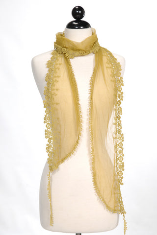 Crochet Fringe Cotton Scarf
