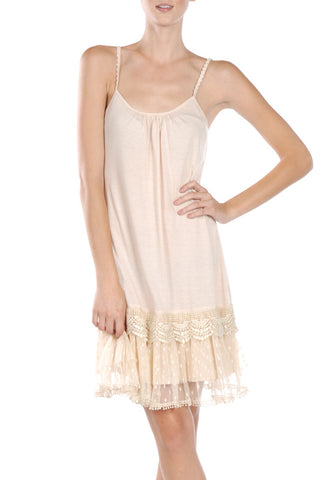 Ruffled Trim Slip Dress