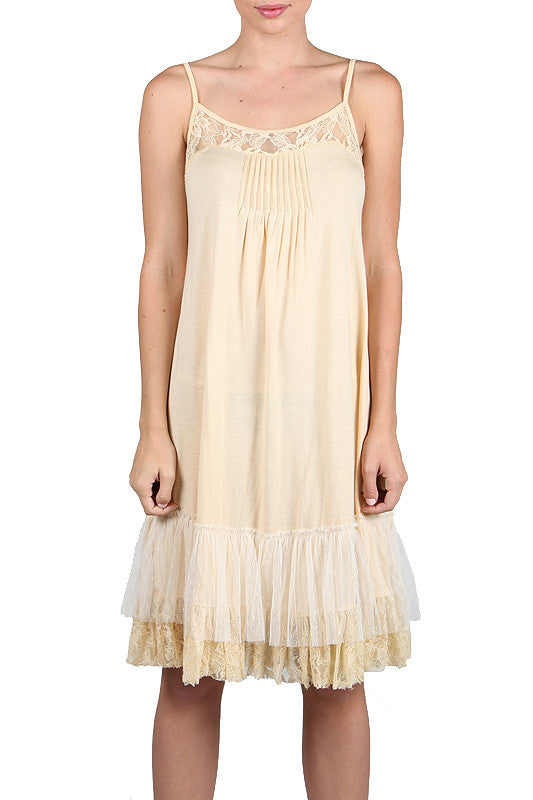 Lace Trim Slip Dress