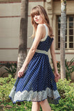 Polka Dot Dress with Lace Detail