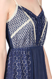 Lace Button Detail Dress with Sweetheart Neckline