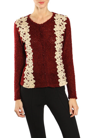 Pearl Applique Cardigan