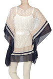 Semi Sheer Lace Poncho Top