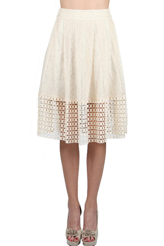 Lace Skirt with Crochet Overlay