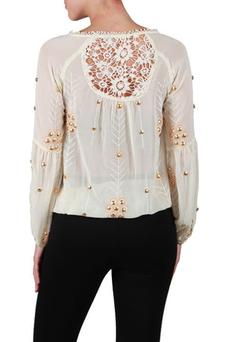 Vintage Top with Lace Detail
