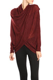 Draped Surplice Sweater Top
