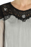 Crochet Detail Sequin Embellished Top